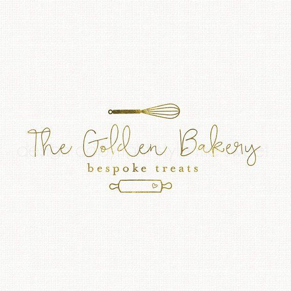 whisk logo design rolling pin logo bakery by stylemesweetdesign
