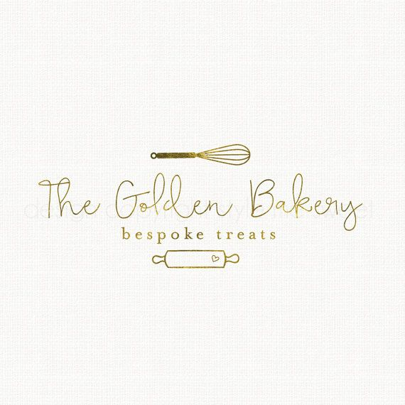 whisk logo design rolling pin logo bakery by BloomingJuneDesignCo