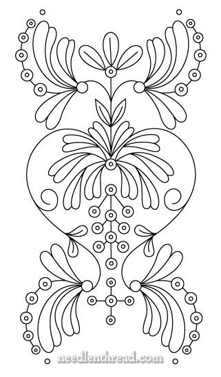 Free Hand Embroidery Pattern: Art Nouveau & Variations