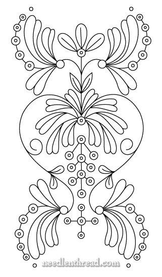 Free Hand Embroidery Pattern: Art Nouveau