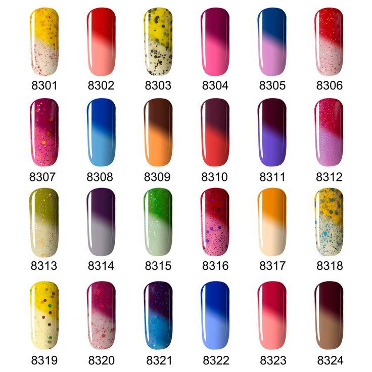 2016 I Più Nuovi Colori UV Del Chiodo Del Gel Polish Modelones Chameleon Temperatura Cambia Colore Polacco UV Del Gel 7 ML Termico Smalto per Unghie Gel