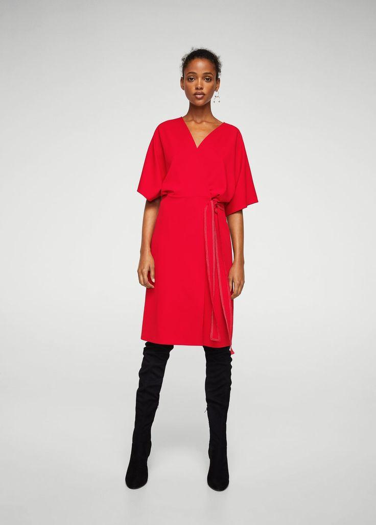 Φόρεμα ζώνη κορδέλα | MANGO ΜΑΝΓΚΟ