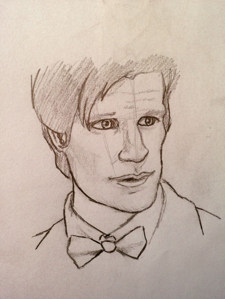 guess WHO!! ;) Doctor Who art sketch drawing Dr. Who (I want to try and draw this)