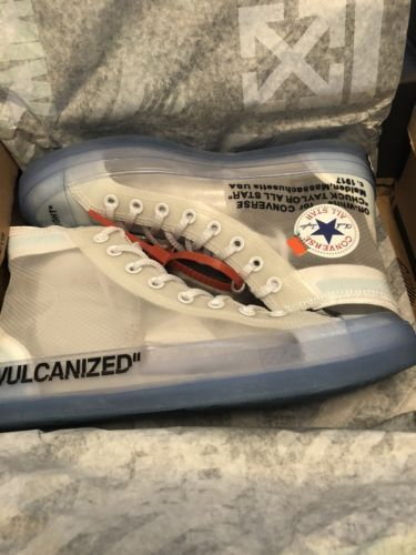 981944c8524ada Details about Brand New UA Off White Converse Size 9.5
