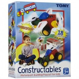 Constructables Motorized Vehicles Building Set $29.97 This amazing building toy allows your child to build 4 different transportation toys: a plane, a train, a race car and a helicopter. http://www.educationaltoysplanet.com/constructables-by-quercetti.html