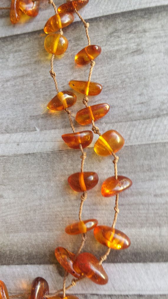 Amber Necklace handmade multistrand necklace by Cicadella on Etsy