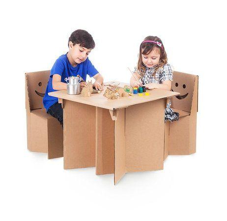 Mesa Infantil de Papelão