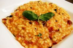 Risotto ai peperoni e basilico - Parliamo di Cucina
