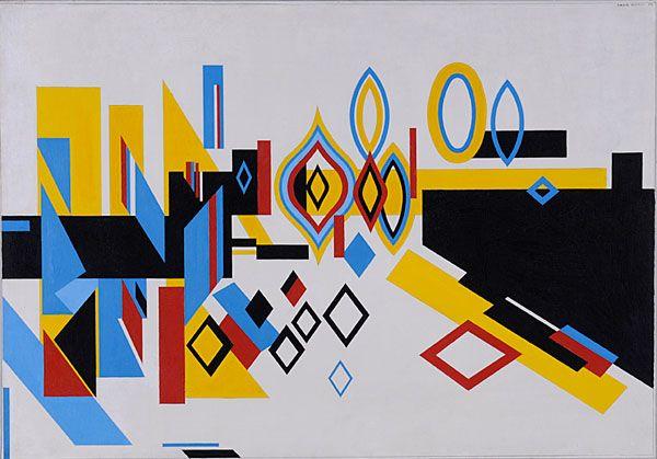 Nadir Afonso. LE GRAND CANAL, 1956, ÓLEO SOBRE TELA. 85,5 X 122,5CM