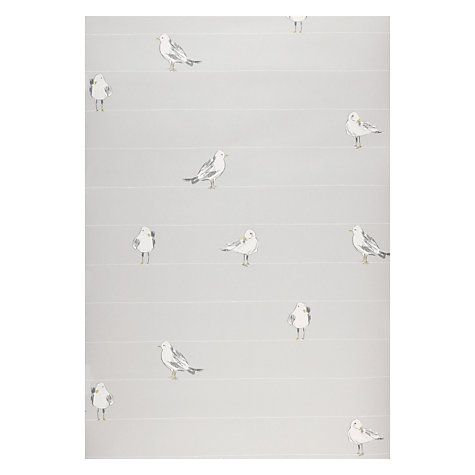 Buy John Lewis Seagulls Wallpaper, Blue Grey Online at johnlewis.com
