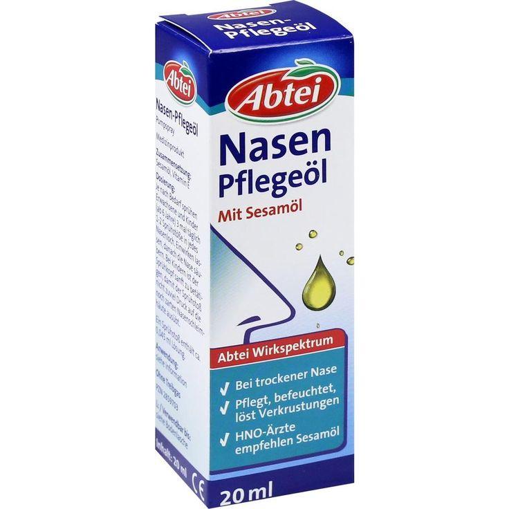 ABTEI Nasenpflegeöl Nasenspray:   Packungsinhalt: 20 ml Nasenspray PZN: 02859703 Hersteller: Omega Pharma Deutschland GmbH Preis: 3,66…