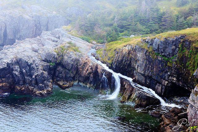 The Spout hiking trail, East Coast Trail, Newfoundland