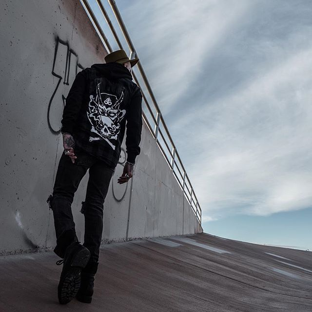 "CRMC X @lzhra ""Satan's Waitin'"" Checked Raglan Hood Available at www.crmc-clothing.co.uk 