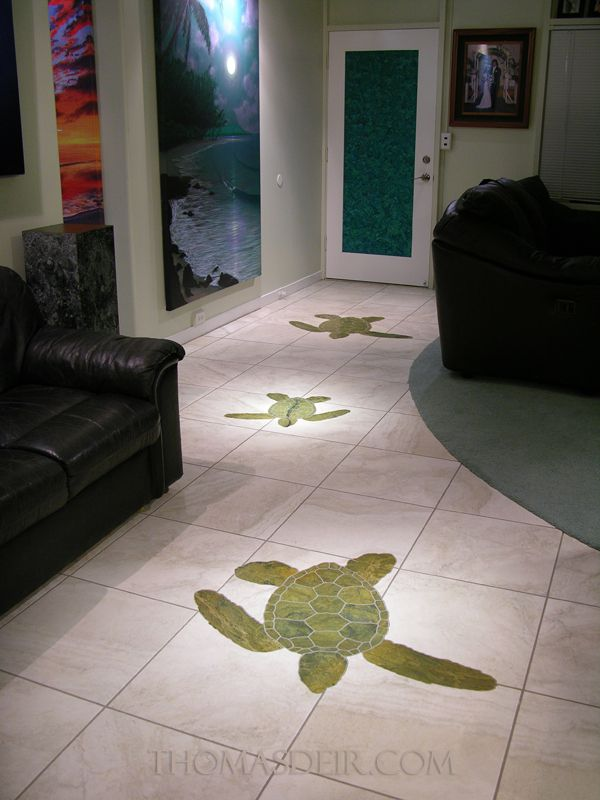 Turtle Marble Entry Floor Stone Mosaic 1
