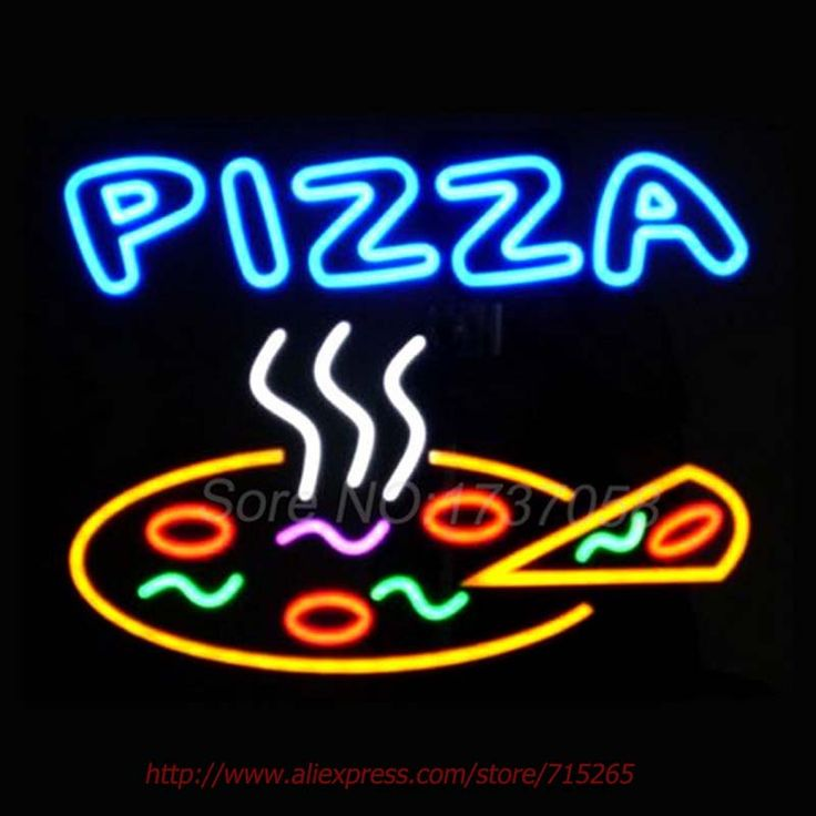 "PIZZA Neon Sign Real Glass Tube Handicrafted Custom LOGO Texans Recreation Room Neon Bulbs Decorative Commercial Lamp VD 17""X14"""
