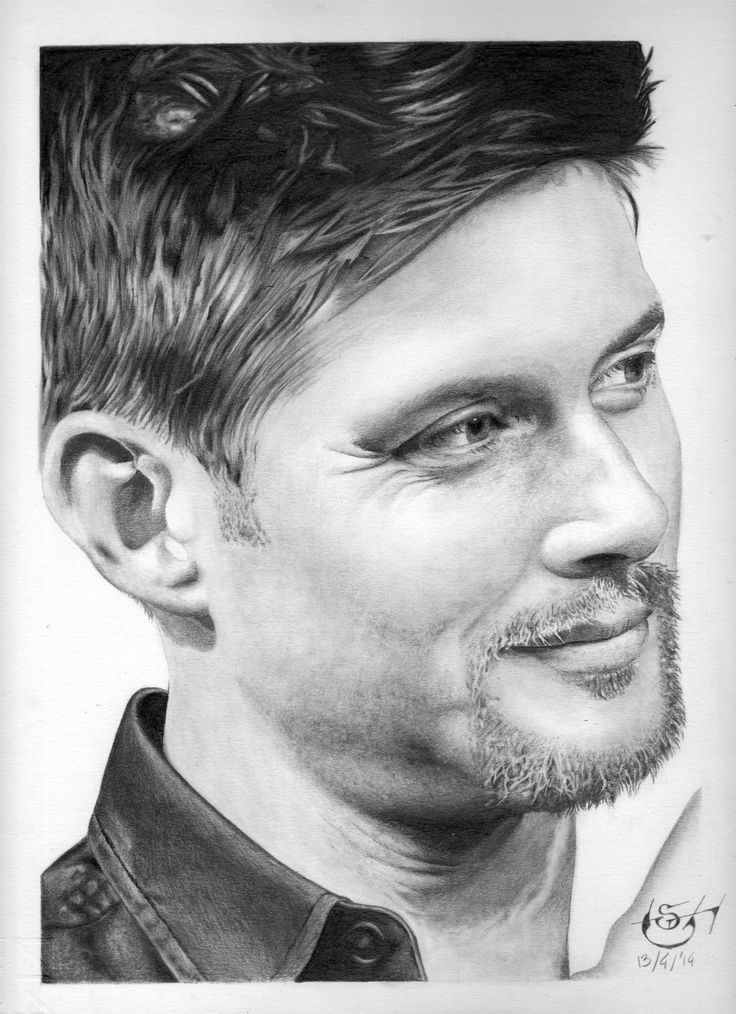 "Drawing actor Jensen Ackles, star of TV Series ""Supernatural"""