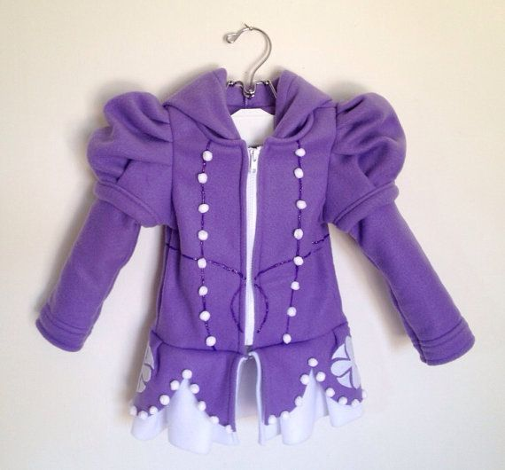 Disney inspired Princess Sofia the First Fleece Girls hoodie shirt (Child sizes) on Etsy, $110.00