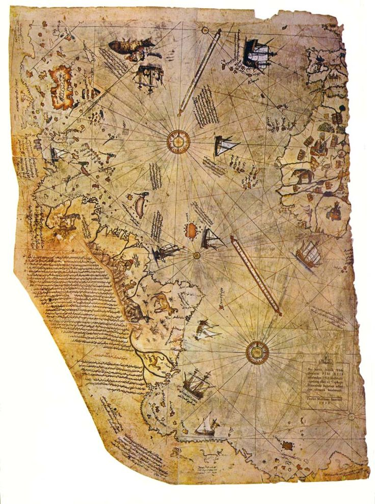 Piri Rei's map was scanned from the frontpiece of a first edition of Hapgood's Maps of the Ancient Sea Kings.