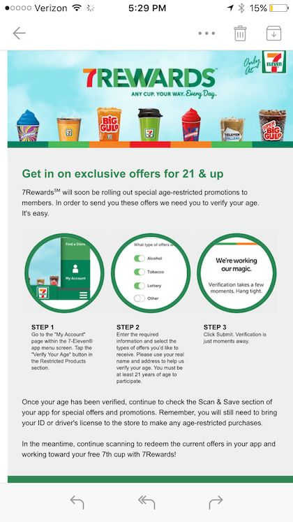 7-Eleven opens up mobile rewards to age-restricted products #7-Eleven #Fintech #Innovation #Technology