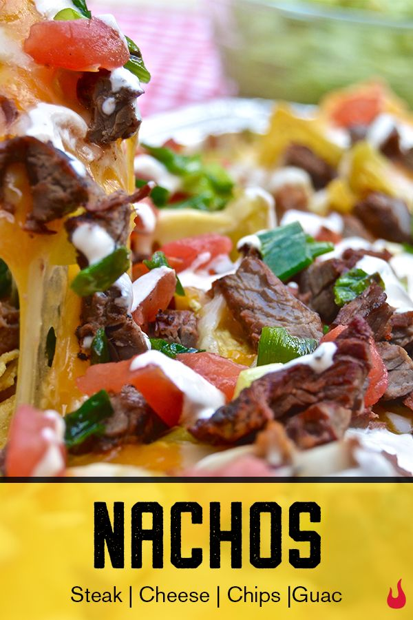 Cheesy nachos are good, but top it with steak and throw it on the grill and you automatically take this classic game day appetizer to the next level. The best part? It's easy, like, really easy. Check out the full recipe for a snack that'll have your guests chippin' over their words. | Char-Broil