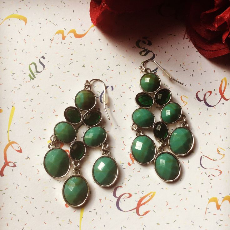 Just listed in our shop today & ready to be shipped tomorrow: these gorgeous green chandelier earrings!  Just in time to wear to holiday parties. FREE shipping through 11/30/17 with coupon code NOVFREESHIP at checkout on all purchases over $19.99.