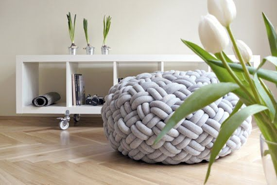 Decorative Pillows and Poufs Knotty by Kumeko, Modern Furniture and Decor