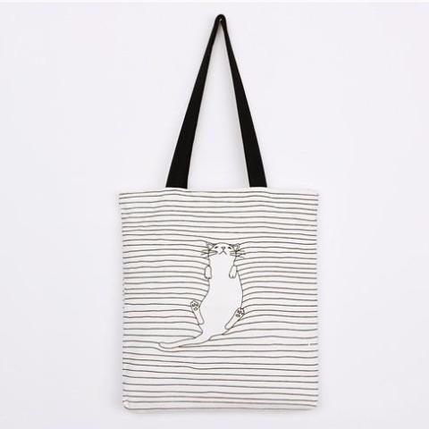 Cats Striped Handbag - Available in 4 Models handbags | handbags and purses 2017 | handbags designer | handbag storage | handbags and purses | The Vintage Handbag | Zassy Handbag | LISA&HANDBAGS | Handbags & Accessories | HANDBAGS my way | handbags we love |