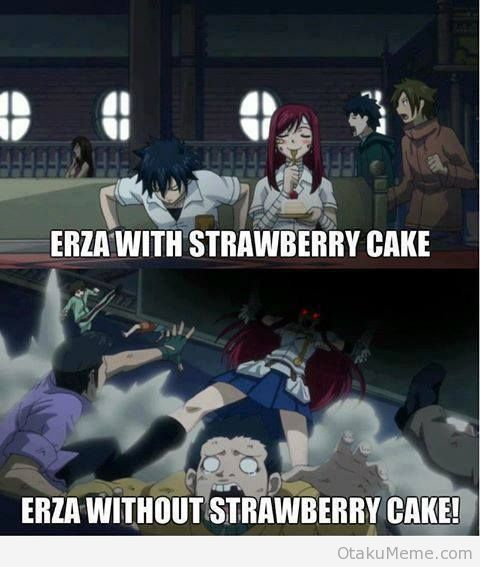 Fairy Tail Gray Fullbuster Erza Scarlet Cake Fairy Tail memes