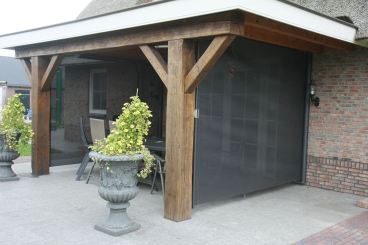 Windscherm onder veranda trendo externo buitenleven windschermen pinterest verandas - Tub onder dak ...