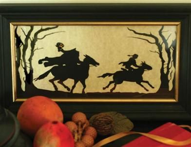 HEADLESS HORSEMAN SILHOUETTE -  A thrilling scene emerges from the pages of Washington Irving''s nail-biter, The Legend of Sleepy Hollow.