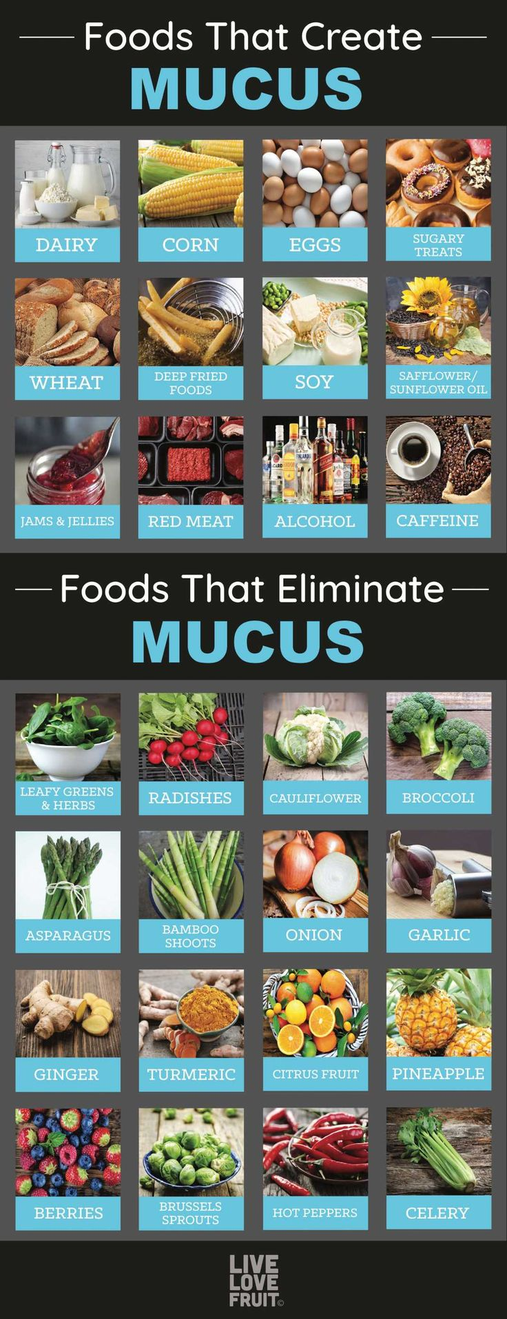 12 Foods That Cause Excessive Mucus In The Body (and 14 Foods That Eliminate It!... 1
