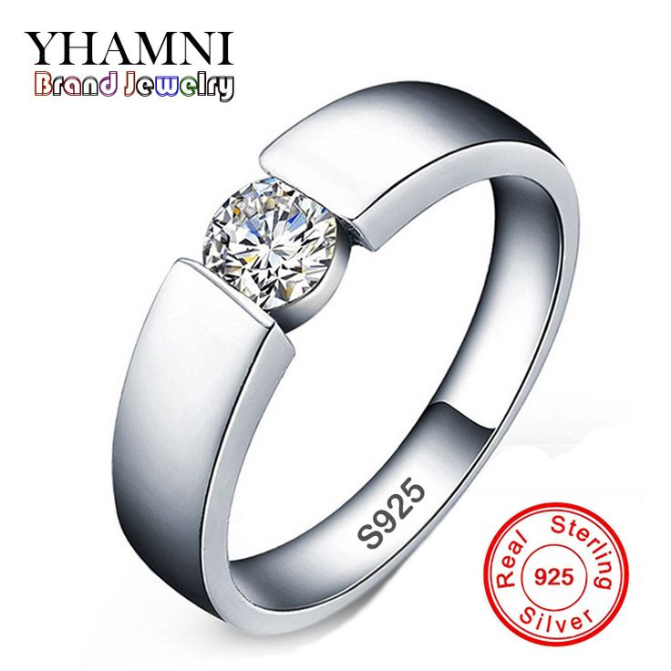 90% OFF!!! 100% 925 Sterling Silver Ring Sona CZ Diamond Engagement Rings For Men and Women Wedding Jewelry RING SIZE 6 -11 RD10