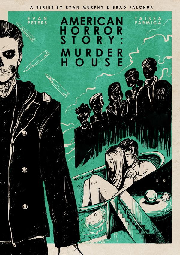 American Horror Story : Murder House by Roberto Sánchez, via Behance