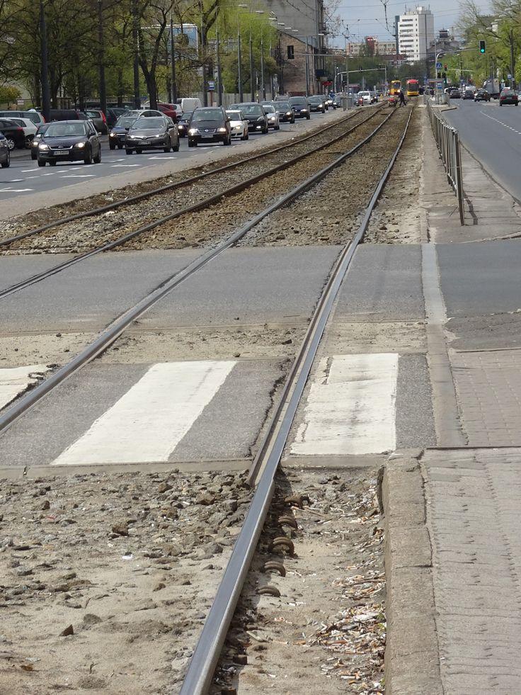Tram line in Praga