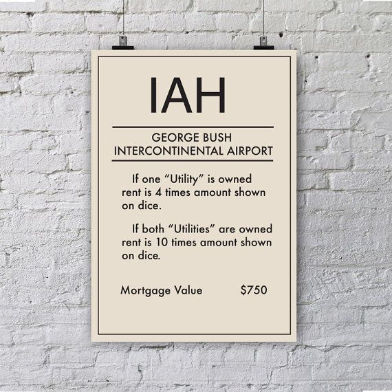 Monopoly inspired Goerge Bush Intercontinental by NaraProject
