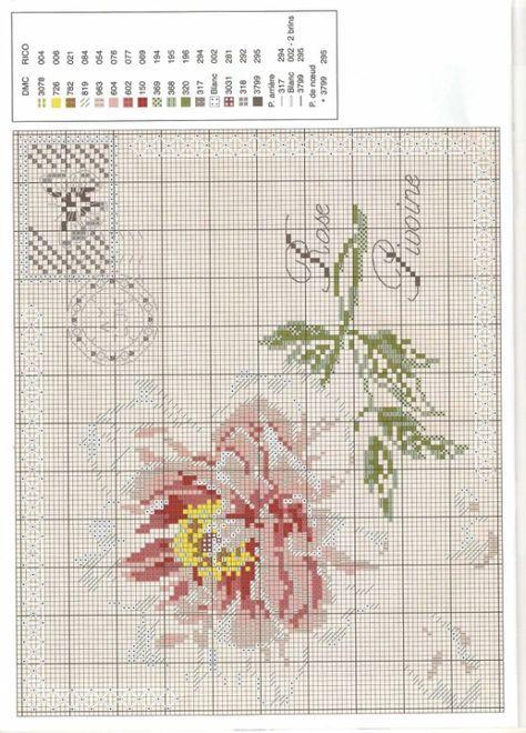 ROSE ENVELOPES cross stitch chart. Gallery.ru / Фото #2 - Пион - DELERJE