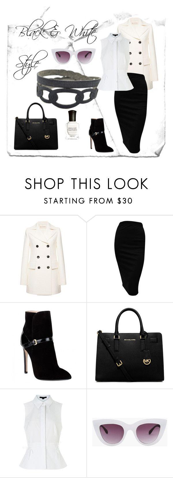 Black & White Style by krilajewels on Polyvore featuring moda, Alexander Wang, Marni, Emilio Pucci, MICHAEL Michael Kors and Deborah Lippmann