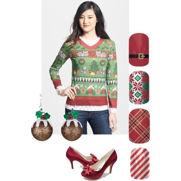 """Jamberry Nails Christmas"" by smithchristineart on Polyvore"