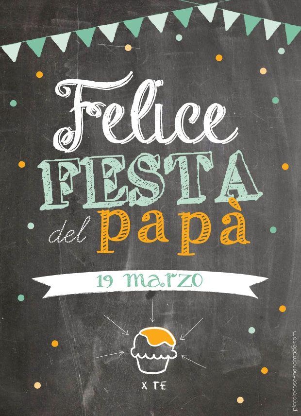 Piccolecose: Festa del papà. Biglietto effetto lavagna. Free printable