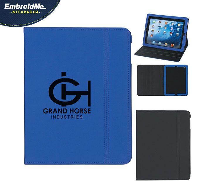 Estuche para tablet con soporte para escritorio, personalizada con tu logo.