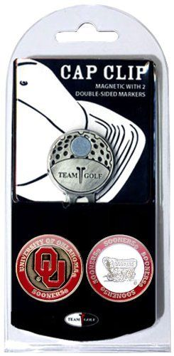 NCAA Oklahoma Sooners 2 Marker Golf Cap Clip by Team Golf. $12.99. The stylish cap clip easily attaches to any hat. 2 double sided enamel color fill magnetic markers. The stylish cap clip easily attaches to any hat, and includes 2 double sided enamel color fill magnetic markers.
