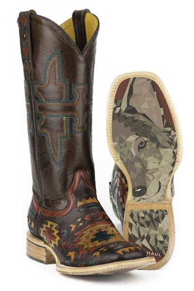 Tin Haul Women's South by Southwest Wolf Cowgirl Boots - HeadWest Outfitters
