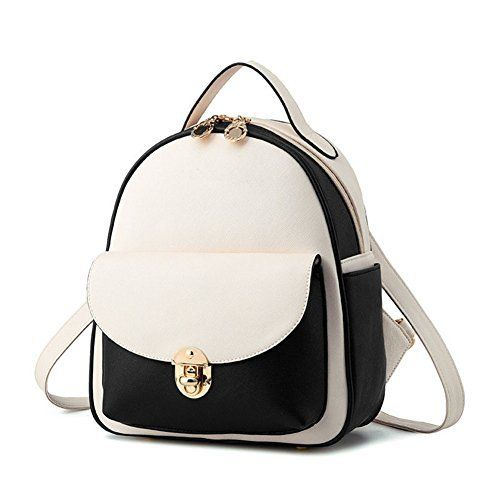 New Trending Backpacks: Hynbase Women Fashion Mini Casual PU Leather Schoolbag Backpack Shoulder Bag Black and White. Hynbase Women Fashion Mini Casual PU Leather Schoolbag Backpack Shoulder Bag Black and White  Special Offer: $27.60  355 Reviews Department:Womens/ladies Marterial: PU Leather Description:This Designer wonderful bag feature size and durable design.The zip ensure the safety of the...