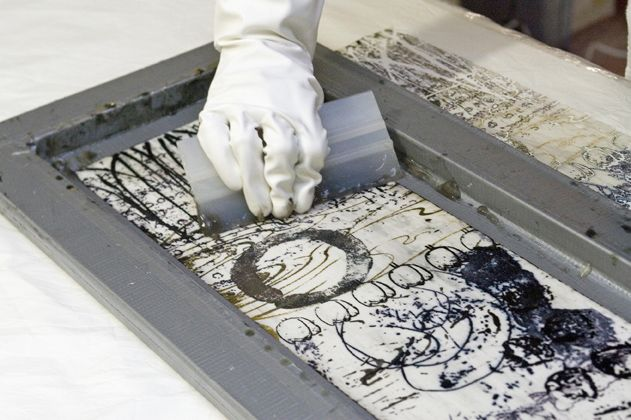 DSP (deconstructed screenprinting) lindacolsh  #artquilt #fiberart #art #textile #Colsh #surfacedesign #printing #dsp #deconstructed #screenprinting