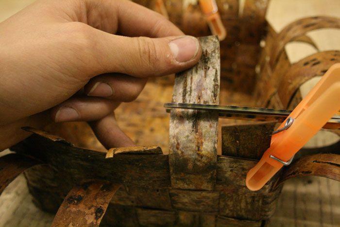 Birch bark basket tutorial- jonsbushcraft.com