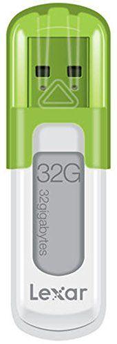 Lexar – LJDV10-32GABEU – JumpDrive V10 Clé USB 2.0 32 Go – Blanc/Vert