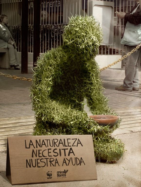 WWF, nature need our help. Marketing Street