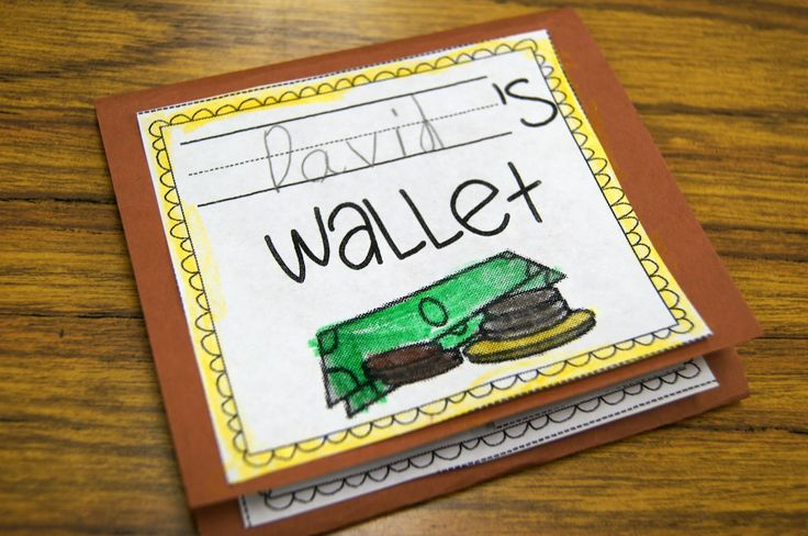 Paper wallets to make when talking about money. There is a spot for pictures of each type of coin, their name and their value.