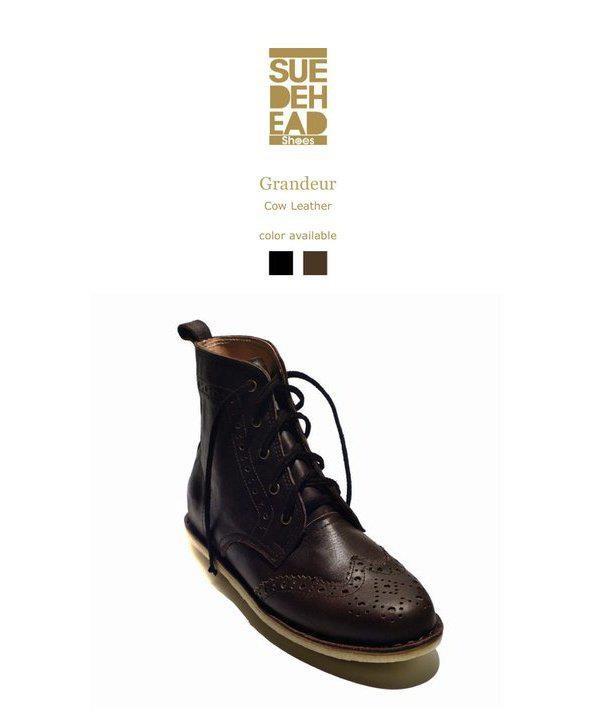 Grandeur wing tip boots