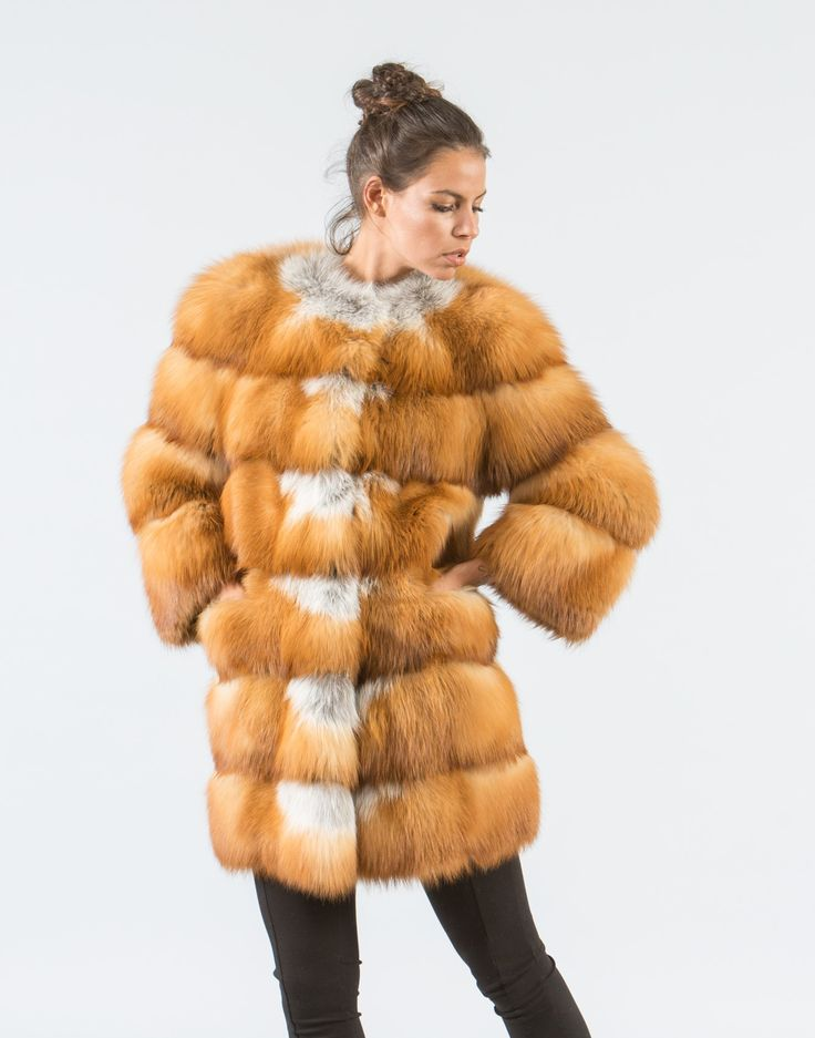 Canadian Red Fox Fur Jacket     #canadian #red #fox #fur #vest #real #style #realfur #naturalfur #elegant #haute #luxury#chic #outfit #women #classy #online #store